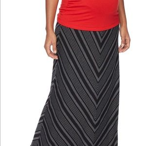 Secret Fit Belly Striped Maternity Maxi Skirt